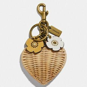 (New) Coach Puffy Heart Keychain / Bag Charm